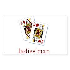 Ladies Man - Poker Rectangle Decal