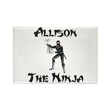 Allison - The Ninja Rectangle Magnet