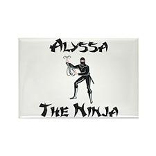 Alyssa - The Ninja Rectangle Magnet