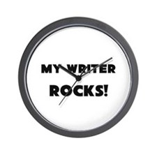 MY Writer ROCKS! Wall Clock