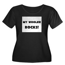 MY Wooler ROCKS! Women's Plus Size Scoop Neck Dark