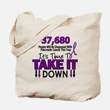 Take Down Pancreatic Cancer 4 Tote Bag