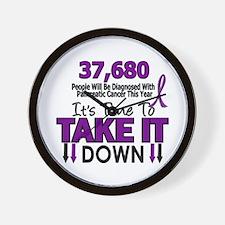 Take Down Pancreatic Cancer 4 Wall Clock