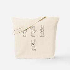 Rock, Paper, Scissors, METAL! Tote Bag