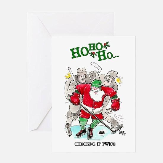 Hockey Mojo Holiday Greeting Card