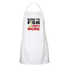 BORN TO FISH BBQ Apron