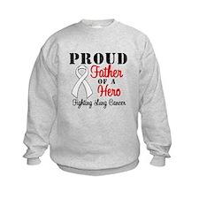ProudFatherLungCancer Hero Sweatshirt