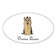 Yorkshire Terrier Oval Decal