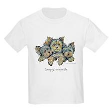 Yorkshire Terrier Puppies Kids T-Shirt