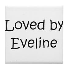 Cute Evelin Tile Coaster