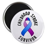 "Childhood Stroke Survivor 2.25"" Magnet (100 pack)"