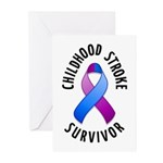 Childhood Stroke Survivor Greeting Cards (Pk of 10