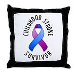 Childhood Stroke Survivor Throw Pillow