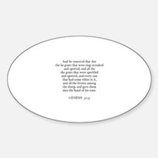 GENESIS 30:35 Oval Decal