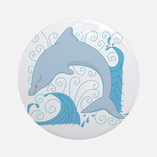 Dolphin Daze Ornament (Round)