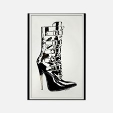 Leather Stilletto Boot Rectangle Magnet
