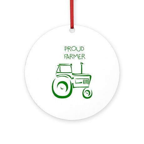 Proud Farmer Ornament (Round)