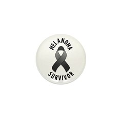 Melanoma Survivor Mini Button (100 pack)