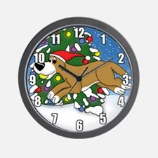 Christmas Flyball Wall Clock