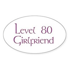 80 GF plain Oval Decal