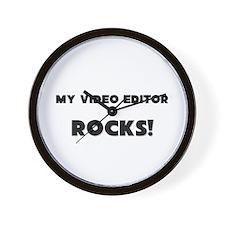 MY Video Editor ROCKS! Wall Clock