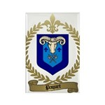 PAQUET Family Crest Rectangle Magnet