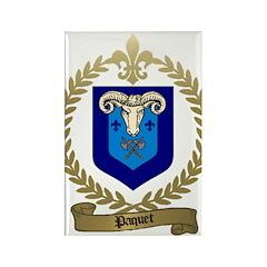 PAQUET Family Crest Rectangle Magnet