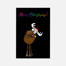 Merry Christmoose Rectangle Magnet (100 pack)