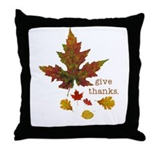 Pretty Thanksgiving Throw Pillow