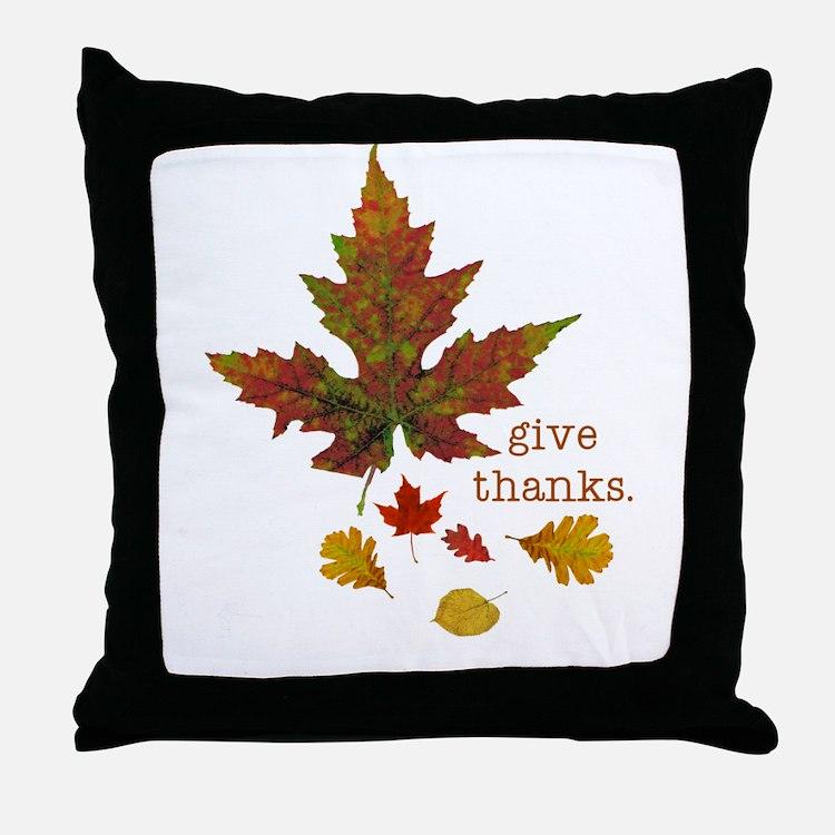 Pretty Thanksgiving Throw Pillow