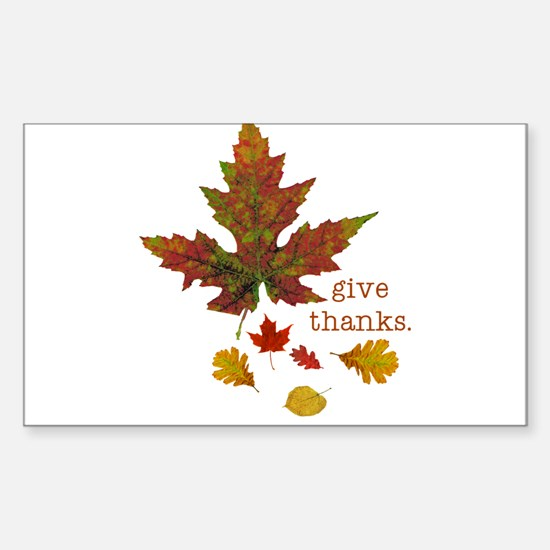Pretty Thanksgiving Rectangle Sticker 10 pk)