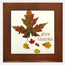 Pretty Thanksgiving Framed Tile