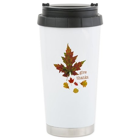 Pretty Thanksgiving Stainless Steel Travel Mug