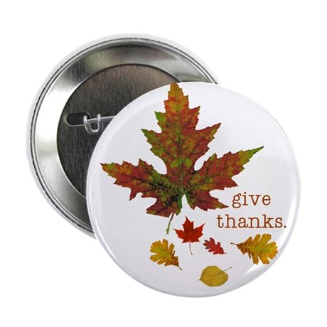"""Pretty Thanksgiving 2.25"""" Button (10 pack)"""