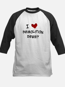 I love demolition derby Kids Baseball Jersey