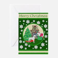 Santa & A Dalmatian Greeting Card