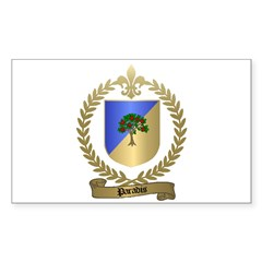 PARADIS Family Crest Rectangle Decal