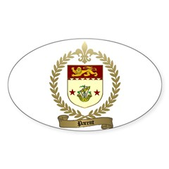 PARENT Family Crest Oval Decal