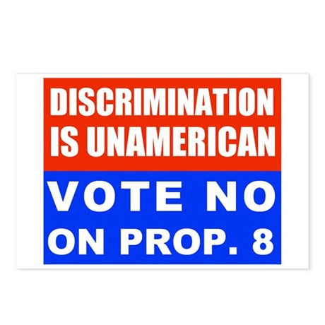 No on Prop. 8 #2 Postcards (Package of 8)