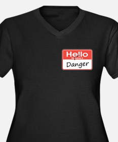 My Middle Name is Danger Women's Plus Size V-Neck