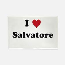 I love Salvatore Rectangle Magnet