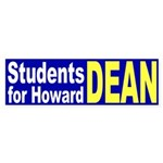 Students for Howard Dean (bumper sticker)