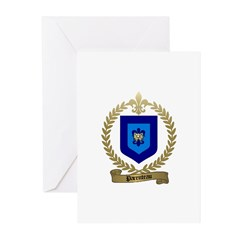 PARENTEAU Family Crest Greeting Cards (Package of
