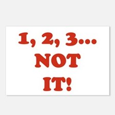 1,2,3 NOT IT! Postcards (Package of 8)