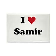 I love Samir Rectangle Magnet