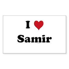 I love Samir Rectangle Decal