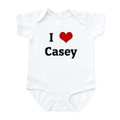 I Love Casey Infant Bodysuit