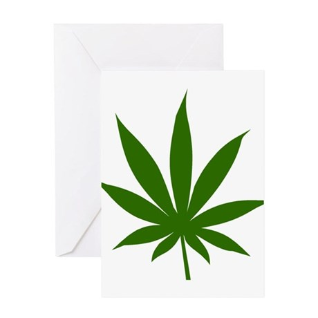 Marijuana Leaf Greeting Card