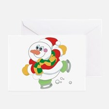 Snowman Ice Skating Greeting Cards (Pk of 20)