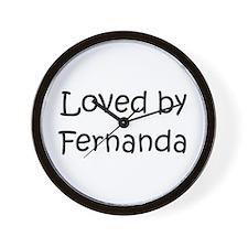 Cute Fernanda Wall Clock